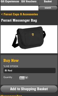 Ferrari laptop bag