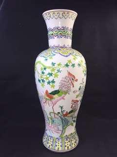 Rare Shape Famille Rose Vase
