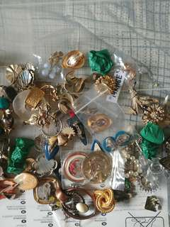 Many old vintage jewelry