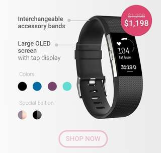 Fitbit Charge 2 100% NEW