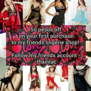 NEED LINGERIES? Go to my friends link at carousell.com/thaililac