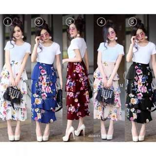 Pre-order Top+tiered skirt