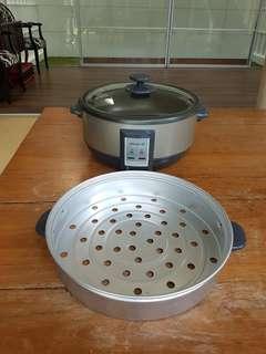 Electronic shabu shabu & steamer pot