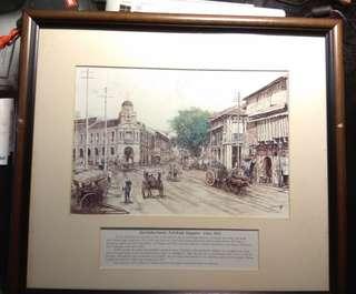 Neil Road Jinrinsha station ink painting