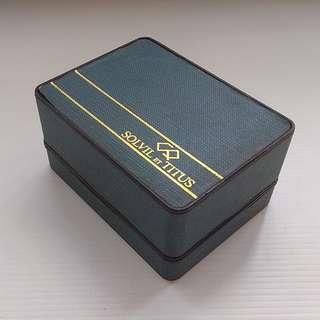 Old Watch Box, Rare Collectables, Retro, Vintage Style Solvil et Titus Watch Box, Switzerland, Genuine, Authentic