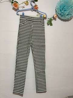 Houndstooth Long Legging Pants