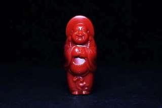 ✥南紅✥ 楊子奇老師精心雕刻瓦西牛血紅彌勒佛吊墜