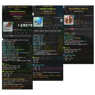 Maplestory STR/Warrior EQ
