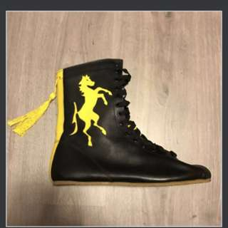(Bought$200+) Rocky II boxing boot replica REAL LEATHER