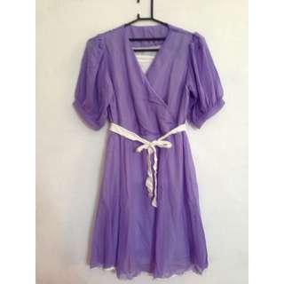 REPOST - Purple Flare Dress