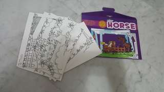 3D colouring cards/book