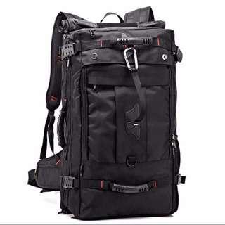 60L Partisan Black Travel Backpack / Bagpack