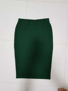 Pencil Skirt - green color