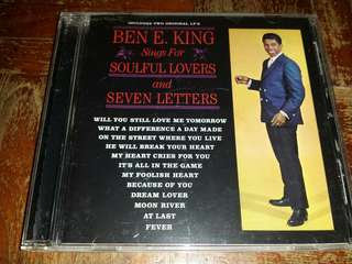 Music CD: Ben E. King ‎– Sings For Soulful Lovers / Seven Letters - Classic Soul Reissue
