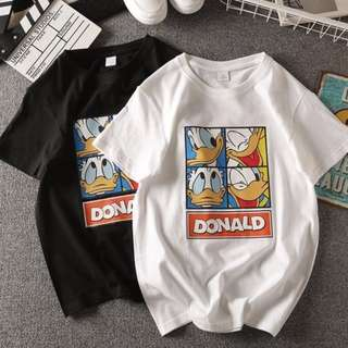 Women's Summer Donald Duck Short Sleeve T-shirt