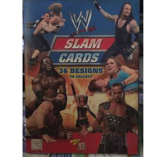 WWE slam cards and book