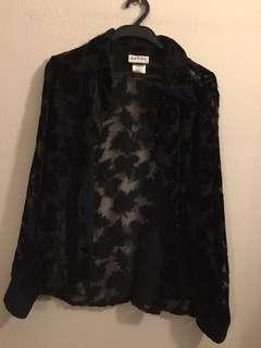 Formal black blouse