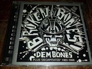 Music CD: Broken Bones–Dem Bones/Decapitated - Legendary UK Punk Band