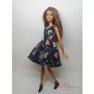 Black Floral Dress May 2018 Collection Barbie Dress