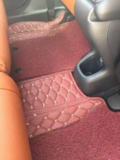 Vezel leather car mat
