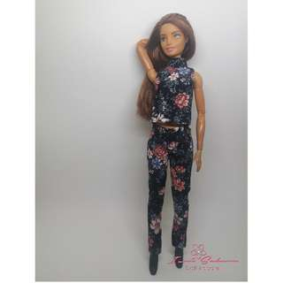 Black Floral Top and Pants May 2018 Collection Barbie Dress