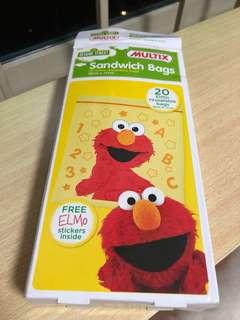 Elmo Sandwich Ziplock bags (20pcs)
