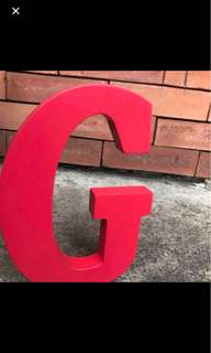 G O T Block Letters