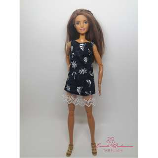 Black Voyager Sleeveless Dress May 2018 Collection Barbie Dress