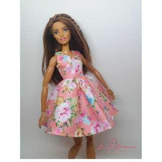 Pastel Peach Dress May 2018 Collection Barbie Dress