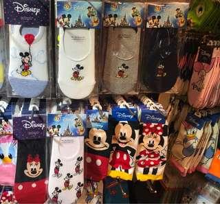 全新韓國直送迪士尼短襪 $100/8對 $50/3對 $20/對