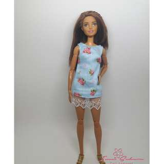 Pastel Blue Sleeveless Dress May 2018 Collection Barbie Dress