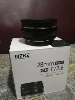 28mm 2.8f prime lens e-mount meike
