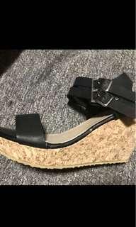 Black Figlia Wedge Shoes
