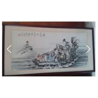 Vintage 八仙过海 Chinese Painting