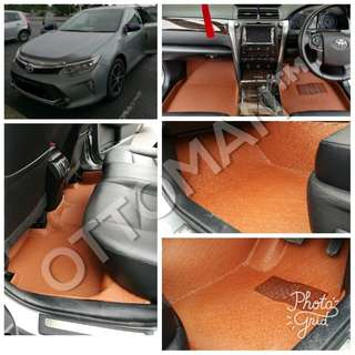 TOYOTA OTTOMAN LUXURY PU LEATHER CAR CARPET