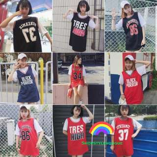 🎈Korean Ulzzang Short - Sleeve 2in1 Jersey🎈