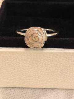Pandora ring pink flower 粉紅色花
