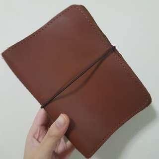 Foxyfix No 2/Pocket/Field Note Size Boss Babe Cambridge Leather Notebook Cover