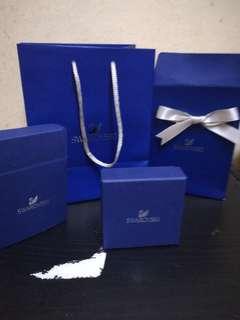 Authentic Swarovski one set paper bag n box