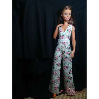 Cream Floral Overall March 2018 Collection Barbie Clothes