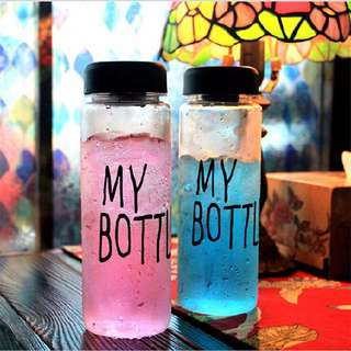 My Bottle Korean Colourful Water bottle Cup transparent material