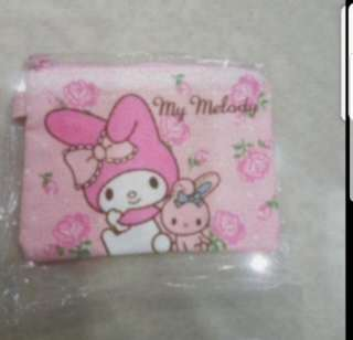 In Stock My Melody Small Pouch Coin Pouch Size is 13 × 9.5cm