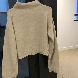 ASOS Cropped Wide Sleeves Sweater