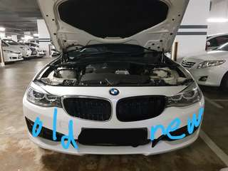 BMW 3 GT F34 Dual Fin Slate Kidney Grille with Installation