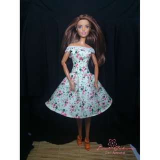 Cream Floral Sunday Dress March 2018 Collection Barbie Clothes