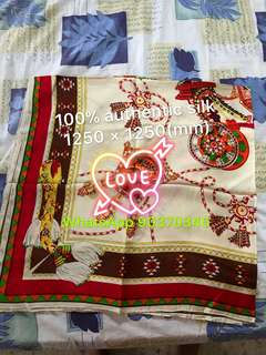Scarf 100% authentic silk