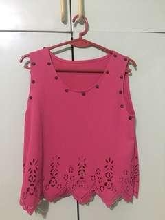 Pink Sleeveless Top