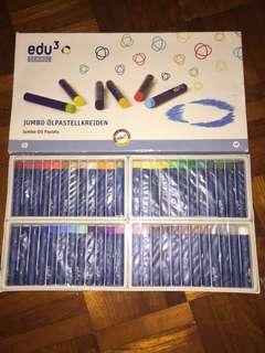 edu3 jumbo oil pastels 48 (round tip)