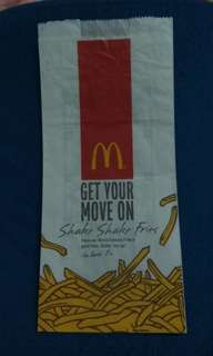 2011 Shake Shake Fries bag 麥當勞