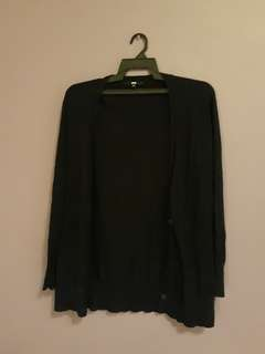 Uniqlo long black cardigan